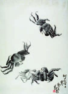 H.H.第三世多杰羌佛中國畫-潑墨螃蟹1.jpg